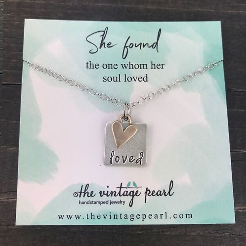 She Found the One Whom Her Soul Loved - Necklace, The Vintage Pearl