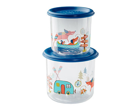 Happy Camper Good Lunch® Snack Containers Large Set-of-Two