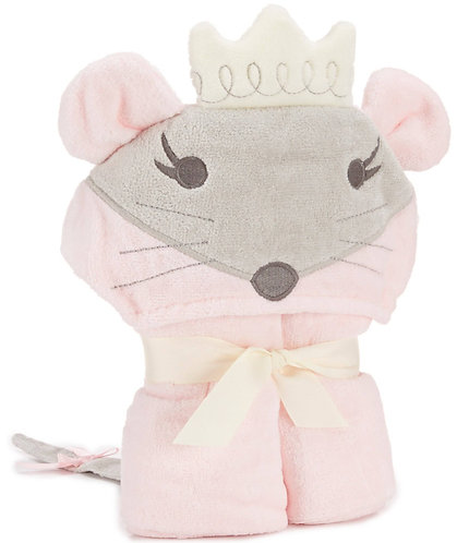 Princess Mousie Hooded Baby Bath Wrap