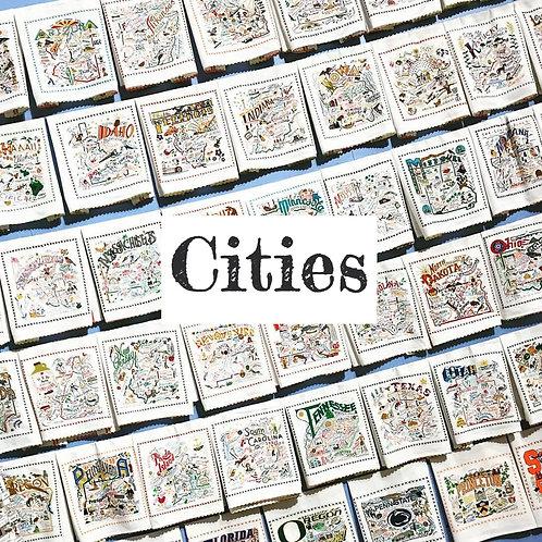 CatStudio State Towels (Cities)