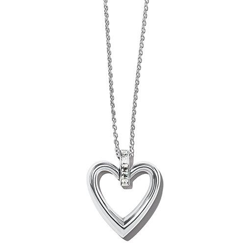 Brighton - Spectrum Open Heart Clear Necklace