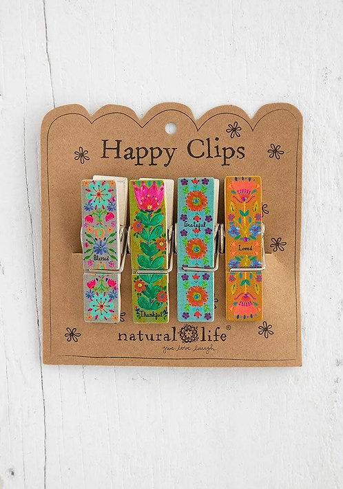 Thankful Blessed - Happy Bag Clips
