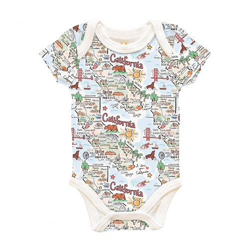 California Map Baby Onesie