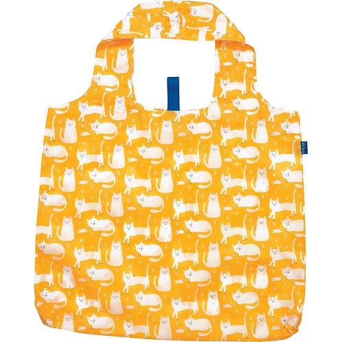 Kitty Cat Yellow Bag Blu Reusable Bag