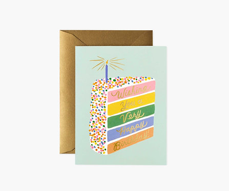 Rifle Paper - Cake Slice Birthday Card