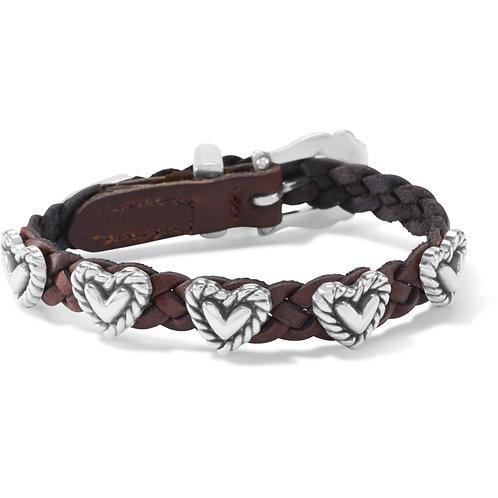 Brighton - Roped Heart Braid Bandit Bracelet