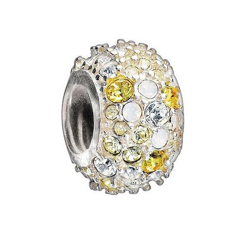 Jeweled Kaleidoscope Yellow Charm
