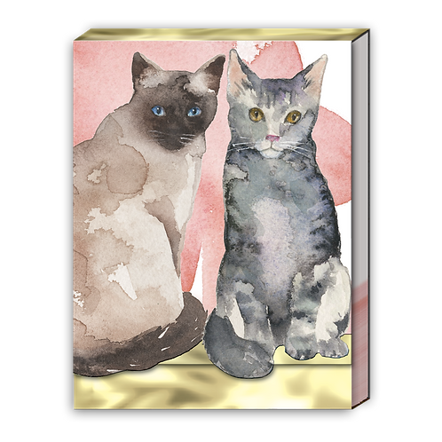 Cat Duo Pocket Note Pad