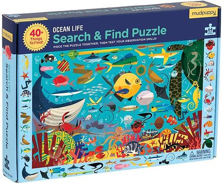 Ocean Life Search & Find 64 Piece Puzzle