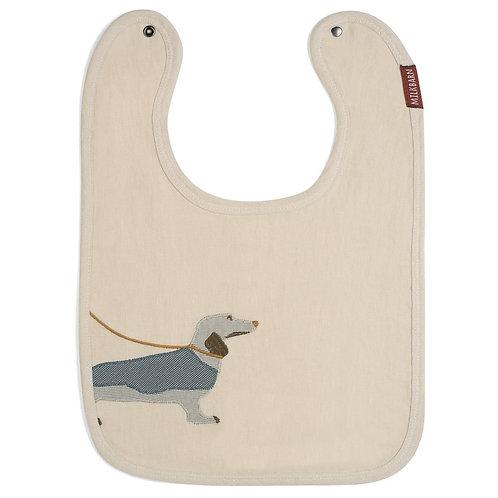 Milkbarn - Dog Appliqué Organic Linen Bib