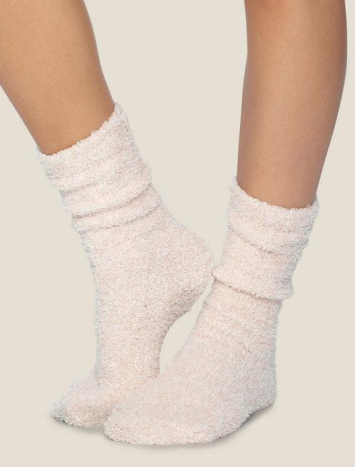 CozyChic Heathered Women's Socks - Rose / White
