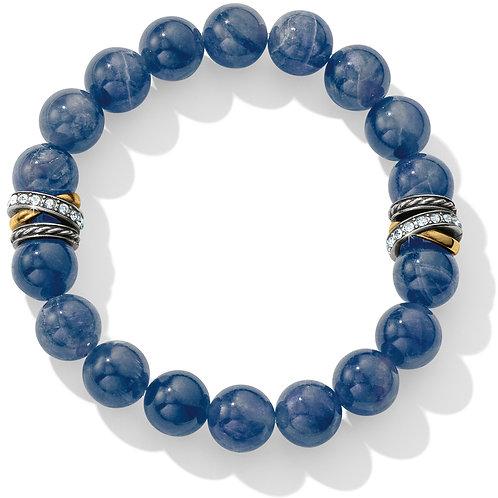 Brighton - Neptune's Rings Brazil Blue Quartz Stretch Bracelet