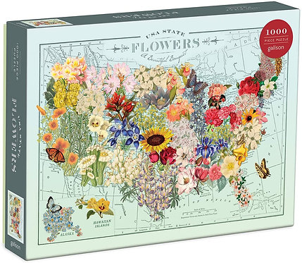 USA State Flowers 1000 Piece Puzzle