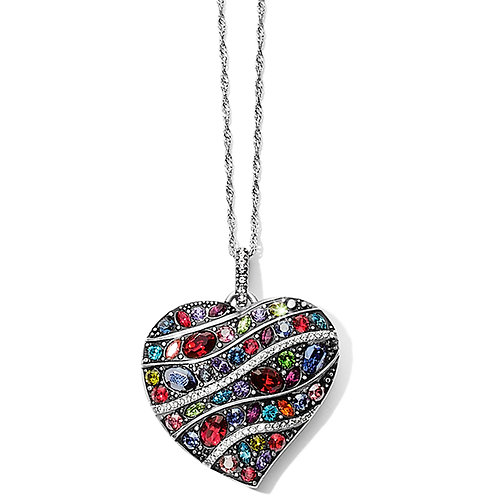 Brighton - Trust Your Journey Wave Convertible Reversible Heart Necklace