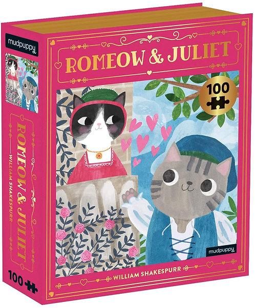 Romeow & Juliet Bookish Cats Puzzle, 100 Pieces