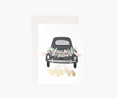 Rifle Paper - Just Married Wedding Card
