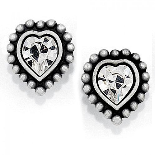 Brighton - Shimmer Heart Mini Post Earrings