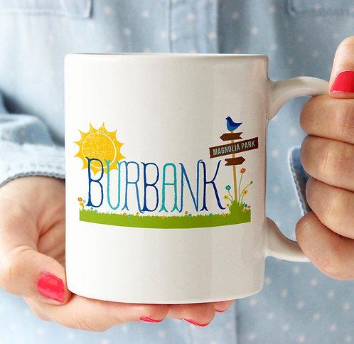 Burbank Magnolia Park Sign Mug
