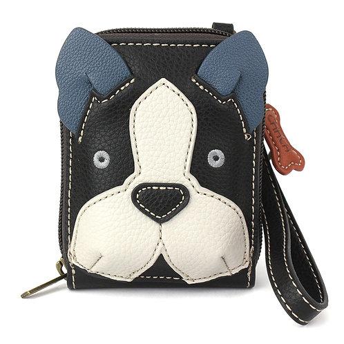 Chala - Cute-C Credit Card Holder Wristlet - Boston Terrier