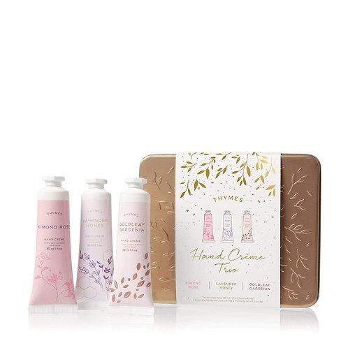 Thymes - Hand Cream Trio - Kimono Rose, Lavender Honey,  Goldleaf Gardenia