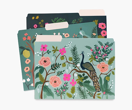 Rifle Paper - Assorted File Folders - Shanghai Garden