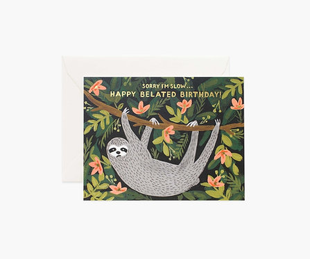 Rifle Paper - Sloth Birthday Card