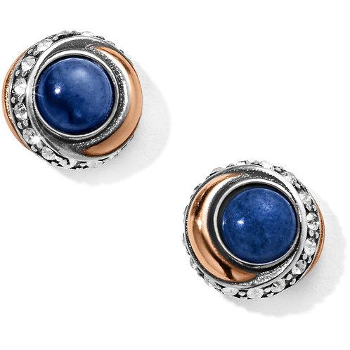 Brighton - Neptune's Rings Brazil Blue Quartz Button Earrings