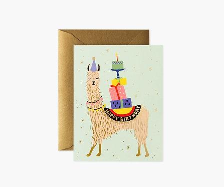 Rifle Paper - Lama Birthday Card