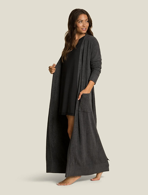CozyChic LiteWomen's Long Robe - Carbon