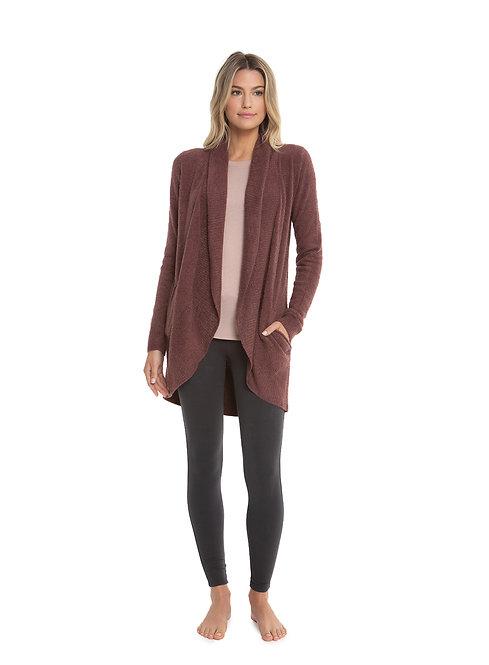 CozyLite Circle Cardi Sweater - Rosewood