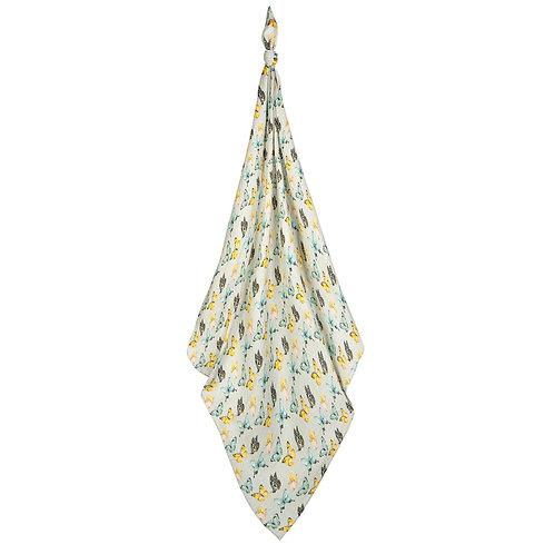 Milkbarn - Butterfly Bamboo Muslin Swaddle Blanket