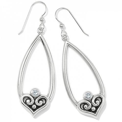 Brighton - Alcazar Heart Teardrop French Wire Earrings