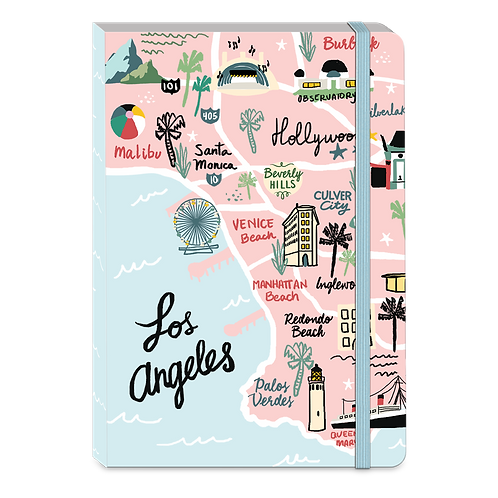 LA Map Soft Cover Bungee Journal