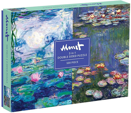 Monet 2-in-1 Double Sided 500 Piece Puzzle