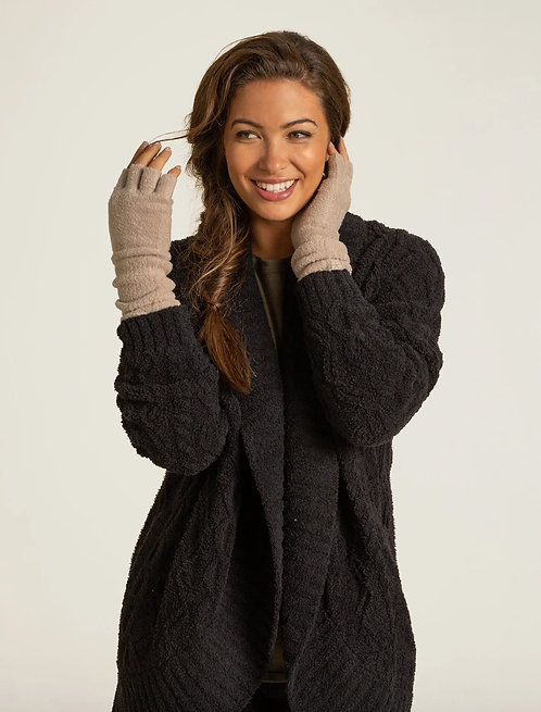 CozyChic Lite® Fingerless Gloves - Taupe