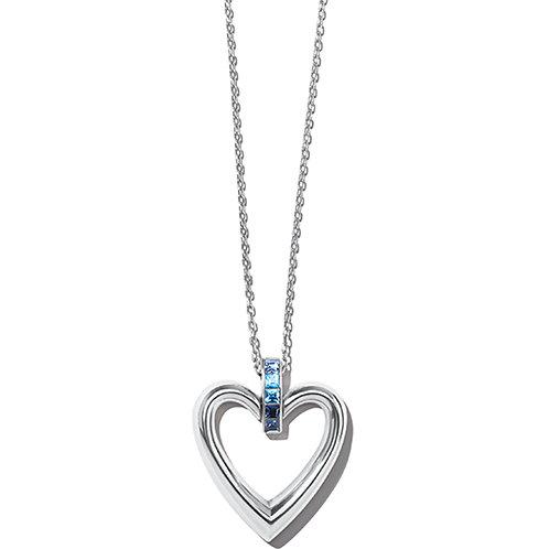 Brighton - Spectrum Open Heart Blue Necklace