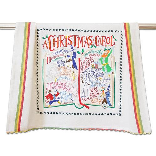 Christmas Carol Dish Towel