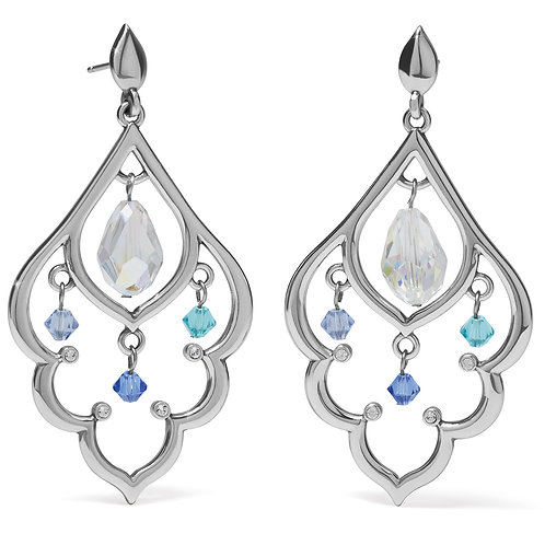 Brighton - Prism Lights Scallop Post Drop Earrings