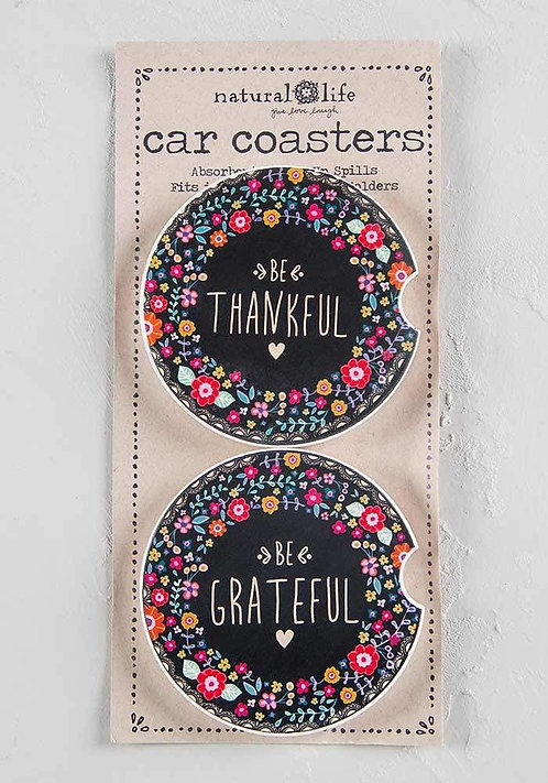Thankful & Grateful - Car Coasters