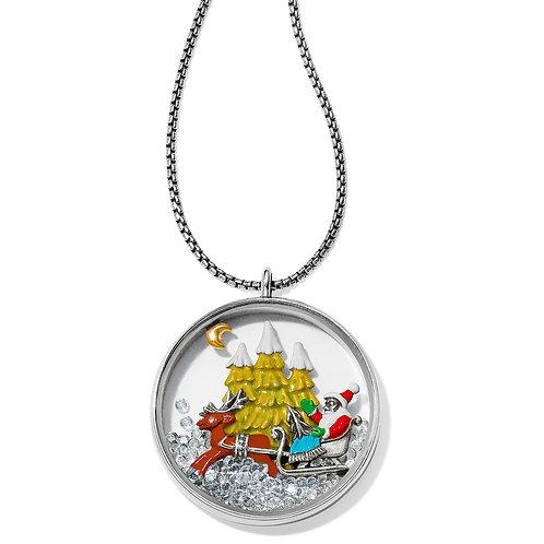 Brighton - Santa's Sleigh Shaker Convertible Necklace