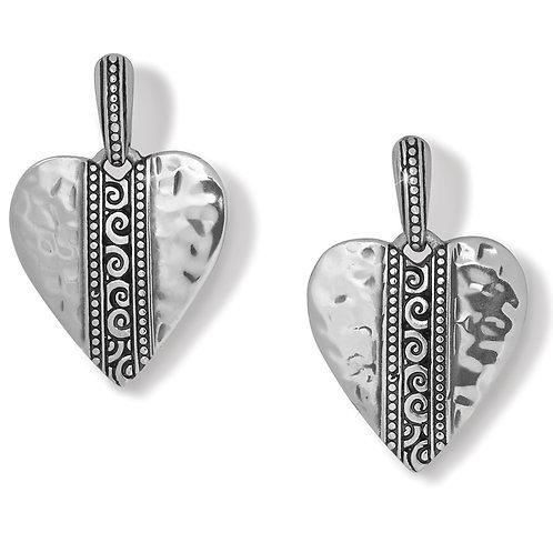 Brighton - Mingle Adore Heart Post Drop Earrings