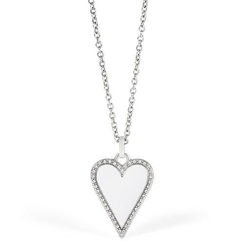 Brighton - Dazzling Love White Heart Necklace