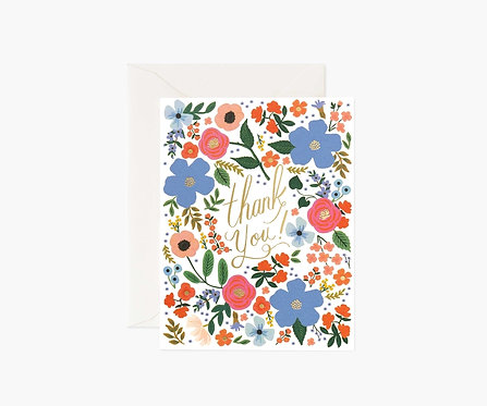 Rifle Paper - Wild Rose Thank You Cards BOXED SET