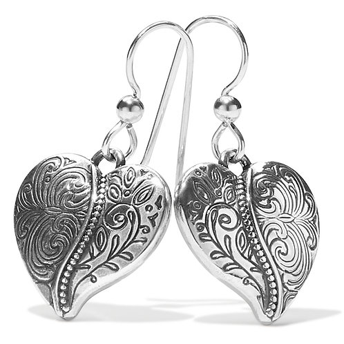 Brighton - Ornate Heart French Wire Earrings