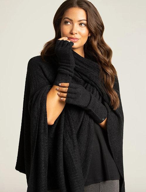 CozyChic Lite® Fingerless Gloves - Black