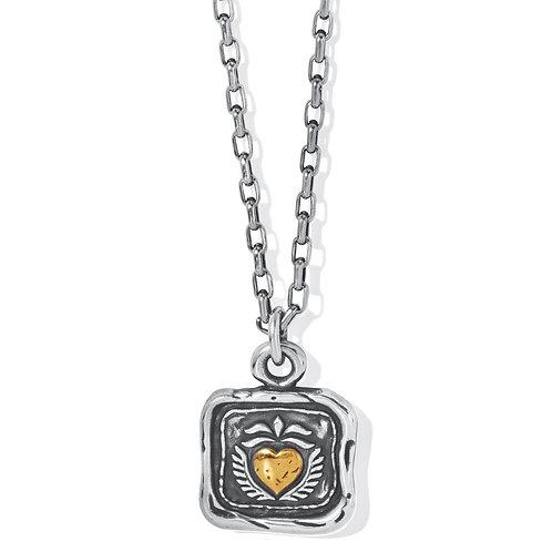 Brighton - Ferrara Virtue Winged Hearted Pendant Necklace