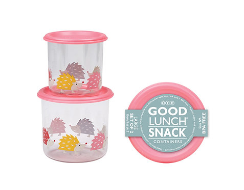 Hedgehog Good Lunch® Snack Containers Large Set-of-Two