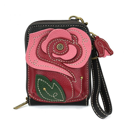 Chala - Cute-C Credit Card Holder Wristlet - Red Rose