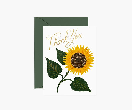 Rifle Paper - Sunflower Thank You Card