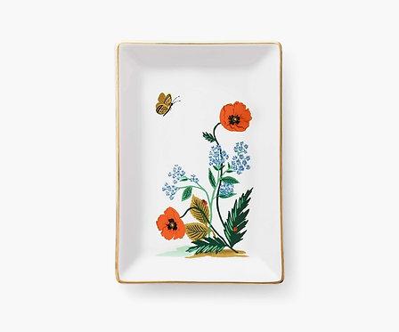 Rifle Paper - Catchall Tray Poppy Botanical